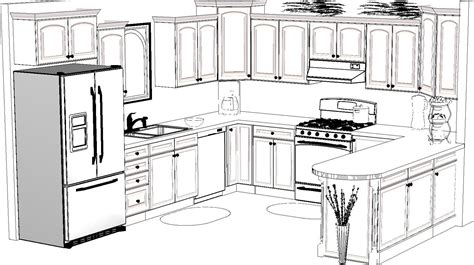 kitchen drawings drawn kitchen sketch pencil and in color drawn kitchen