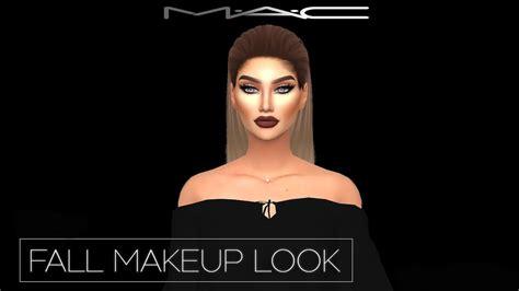sims 4 mac wann fall makeup look by mac cosimetics