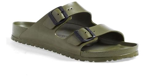 waterproof birkenstock sandals birkenstock essentials arizona waterproof sandal in green