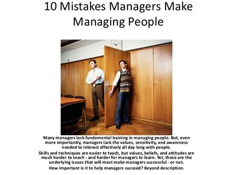 Financing 10 Mistakes That Most Make by 10 Mistakes Managers Make Managing