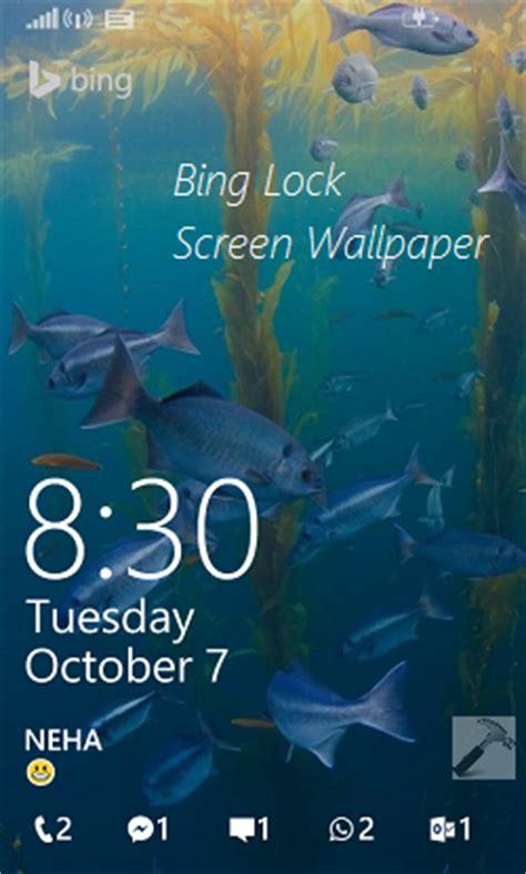 fix bing lock screen wallpaper  refreshing automatically