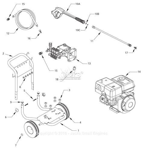 pressure washer diagram cbell hausfeld pw3270 parts diagram for pressure washer