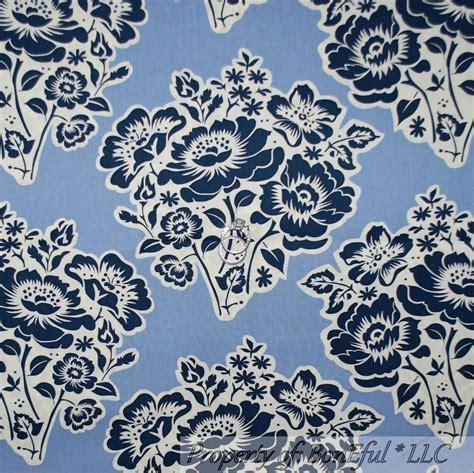 shabby chic fabric white blue boneful fabric fq cotton quilt blue white navy shabby chic flower cottage toile ebay