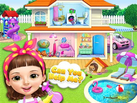 sweet baby girl cleanup  messy house makeover apk