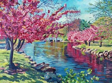 spring paint spring soliloquy painting by david lloyd glover