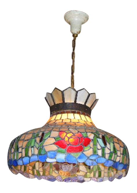 Antique Stained Glass Chandelier Antique Style Stained Glass Hanging Chandelier Chairish