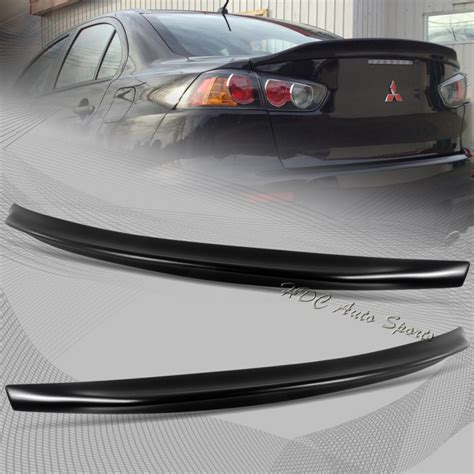 mitsubishi evo spoiler for 2008 2015 mitsubishi lancer evo 10 black abs rear