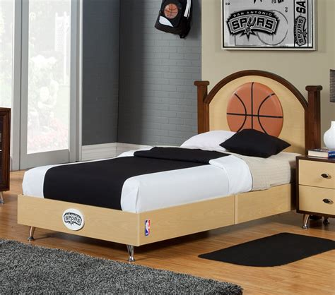 basketball bedroom sets dreamfurniture com nba basketball san antonio spurs twin bed