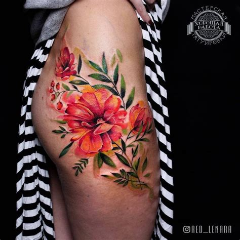 watercolor tattoos hip 25 best ideas about floral hip on hip