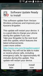 Verizon Background Check Failure Brigadier By Kyocera Software Update Verizon Wireless