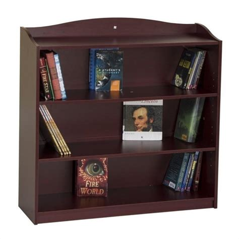 guidecraft 4 shelf bookshelf in cherry g6335