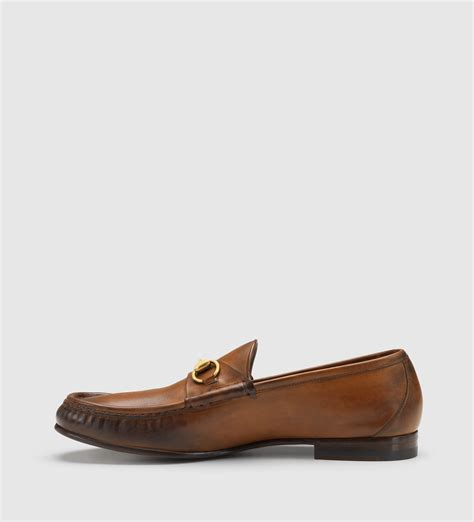 loafers in leather lyst gucci 1953 horsebit loafer in leather in brown for