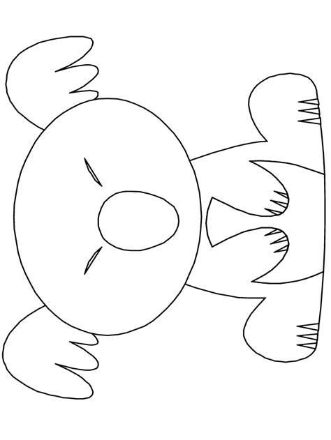 koala outline coloring home