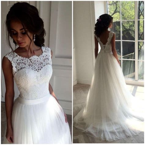 Lace Bridal Gowns by White Lace Wedding Dresses Handmade Backless Lace Up