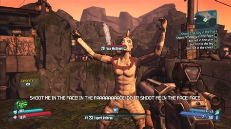 Me In borderlands 2 facemcshooty shoot me in the
