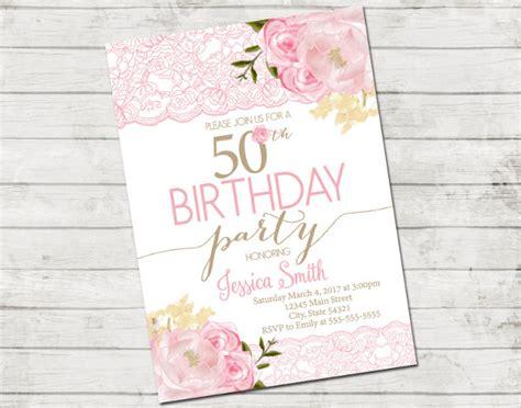 exles of 50th birthday invitations 52 invitation designs exles psd ai eps vector