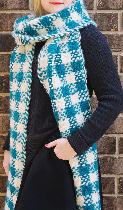knitting pattern plaid scarf plaid knitting patterns in the loop knitting