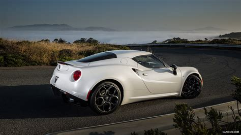 car picker white alfa romeo 4c