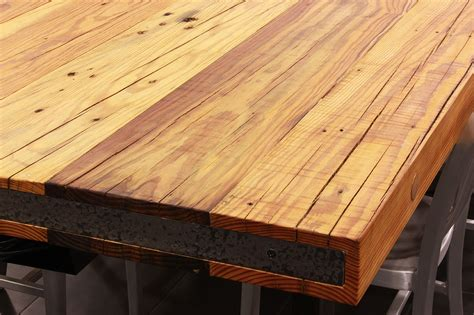reclaimed wood table top sir belly rustic pine table top caddetails