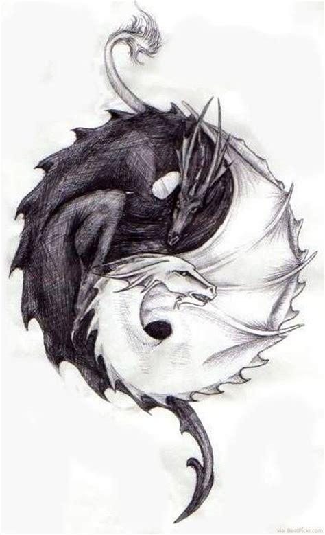 yin yang dragon tattoo a yin and yang
