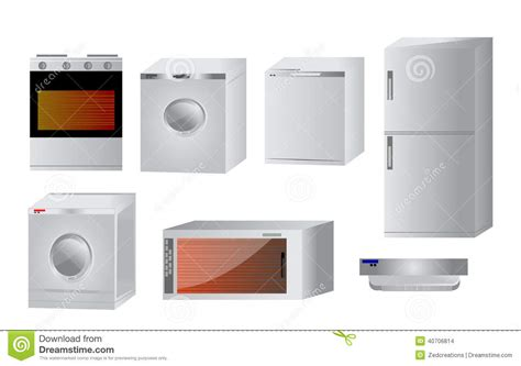 home electronics stock vector image of goods design
