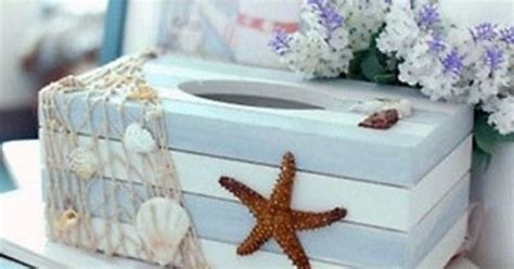 Keep Your Tub Flood Free With The Starfish Bath Alert by Starfish Sea Shell Style Wooden Tissue Box