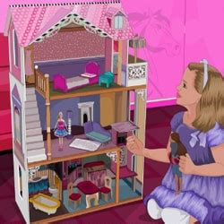 barbie girl doll house games makeover girl games
