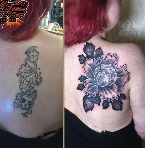cover up back tattoos flowers cover up www pixshark images