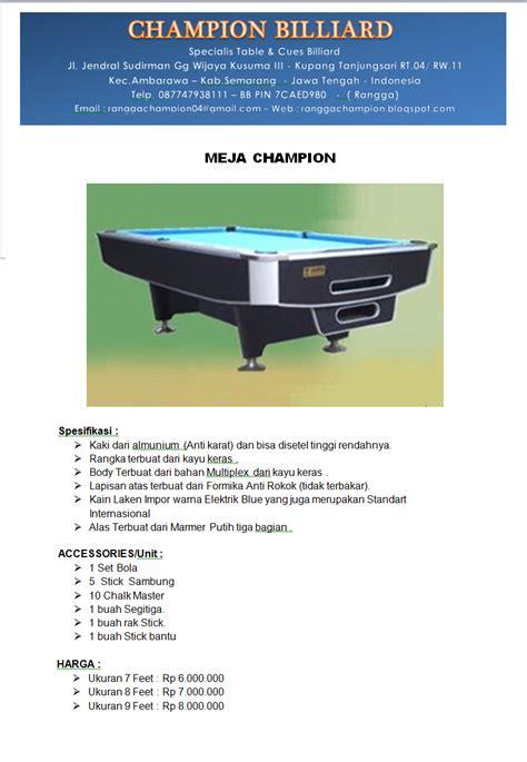 Meja Billiard Metro chion billiard meja billiard chion standart series