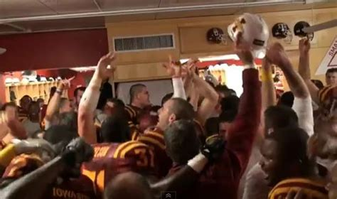 gets beat up in locker room iowa state goes in locker room after beating oklahoma state larry brown sports