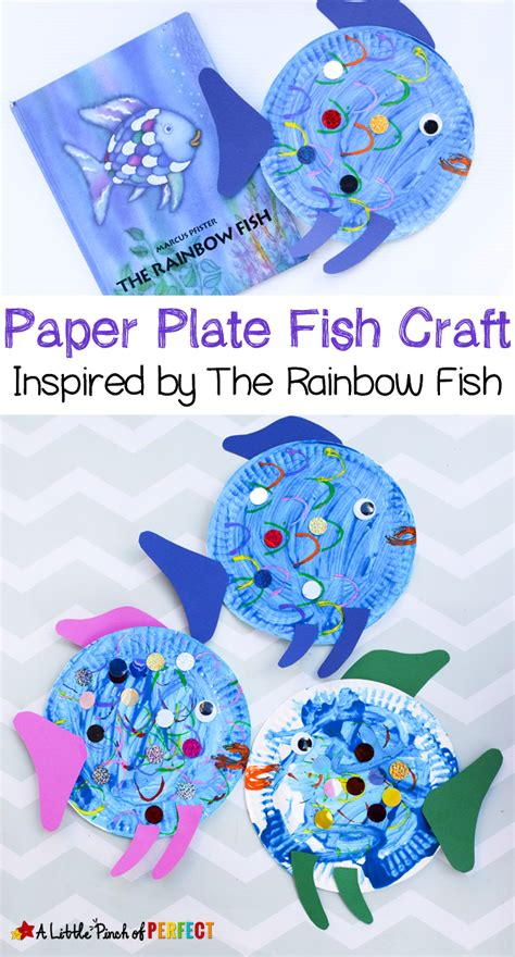 paper plate craft book paper plate fish craft inspired by the rainbow fish a