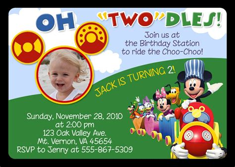free mickey mouse clubhouse birthday invitations to make