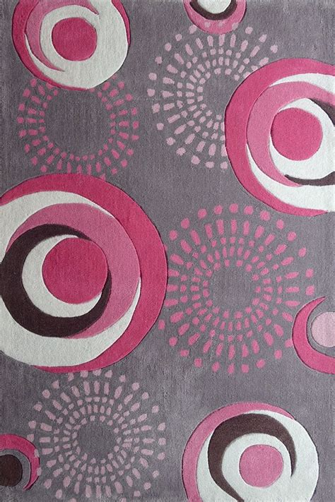 grey and pink rug 4 ft x 6 ft grey bedroom area rug with pink circles design kid i want and circles
