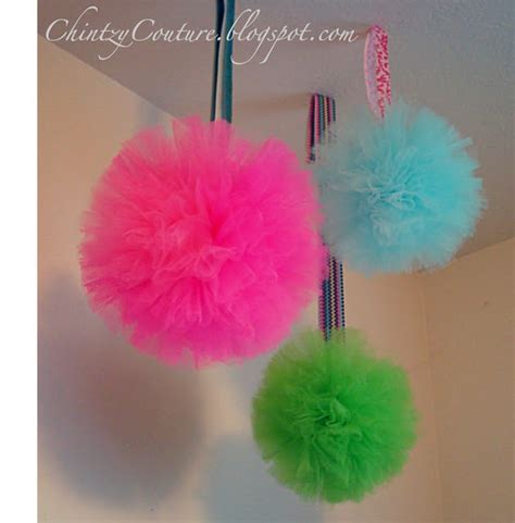How To Make Paper Pom Pom Balls - tulle pom pom paper fabric flowers pom poms