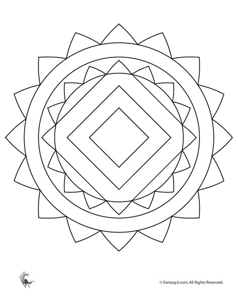 basic mandala coloring pages easy mandala coloring pages coloring home