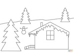 coloring pages winter house winter house super coloring