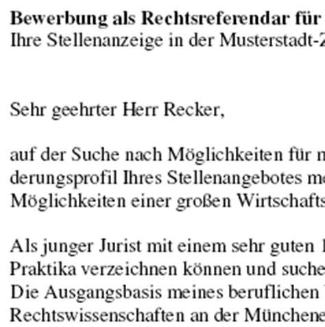 Bewerbungsschreiben Praktikum Großkanzlei Bewerbung Referendar In Anwalt Anw 228 Ltin Azubi Vorlagen De