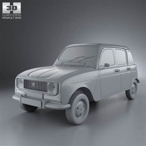renault hatchback models renault 4 r4 hatchback 1974 3d model hum3d