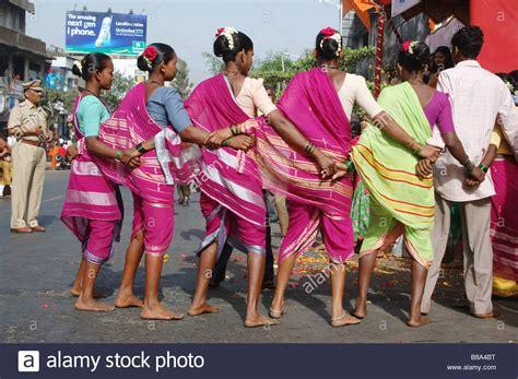 warli tribal dance during gudhi padwa hindu new year