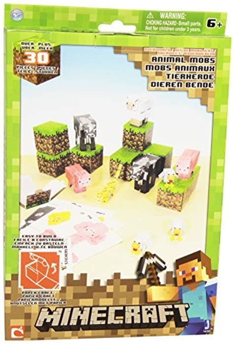 Minecraft Papercraft Animal Mobs - minecraft papercraft animal mobs set 30 pieces