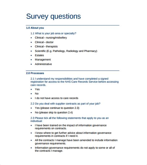 Survey Questions - survey question template download free documents in word pdf