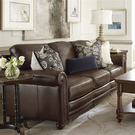 hamilton leather sofa by bassett furniture bassett sofas