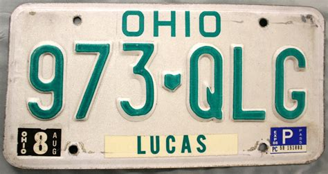 Ohio Bmv Vanity Plates by 1988 Ohio License Plate 973 Qlg
