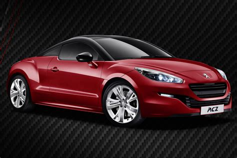 peugeot rcz red carbon pictures details  uk prices evo
