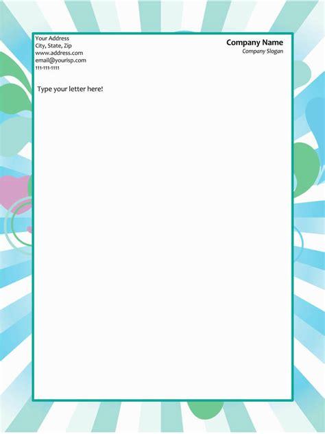 letterhead templates word elegant designs