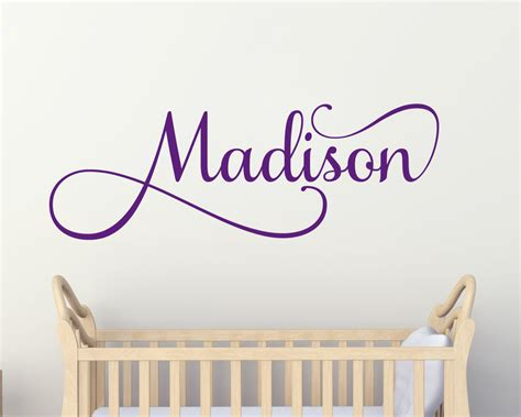 childrens personalised wall stickers personalised childrens wall sticker name wall