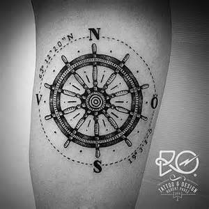 25 best ideas about ship wheel tattoo on pinterest