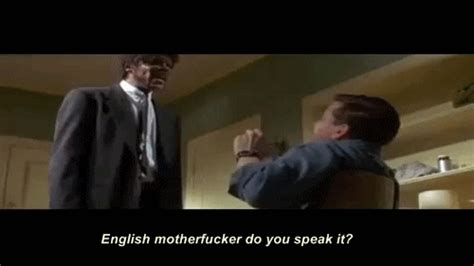 English Motherfucker Do You Speak It Meme - pulp fiction gif find share on giphy