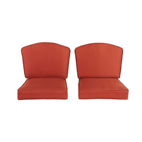 Replacement Patio Chair Cushions Hton Bay Westbury Replacement Outdoor Seating Lounge Chair Cushion 2 Pack S2cush