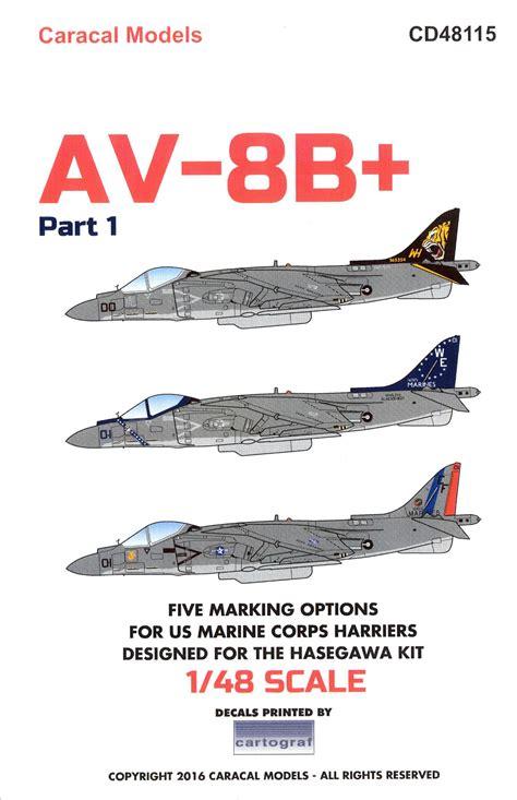 Av 8 Harrier Usmc 1 48 Pro Built Model caracal decals 1 48 mcdonnell douglas av 8b harrier u s marine corps ebay